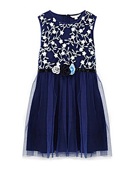 Yumi Girl Floral Embroidered Prom Dress