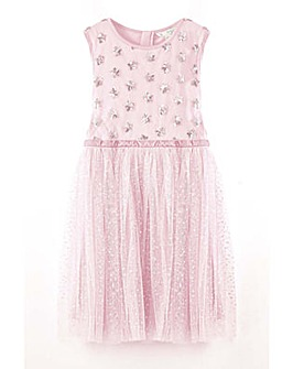 Yumi Girl Embellished Star Tulle Dress