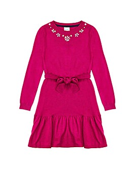 Yumi Girl Embellished Peplum Dress