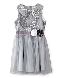 Yumi Girl Floral Embroidered Dress