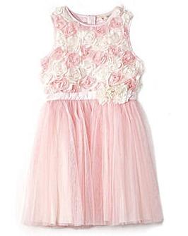 Yumi Girl 3D Rose Party Dress
