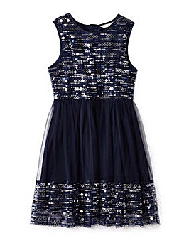 Yumi Girl Sequin Panel Party Dress