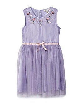 Yumi Girl Sprig Embellished Neck Dress