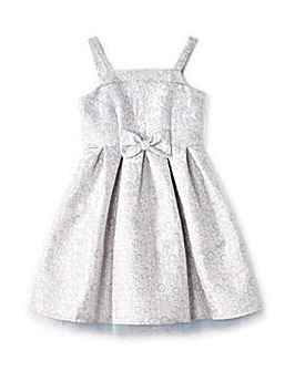 Yumi Girl Floral Jacquard Bow Prom Dress