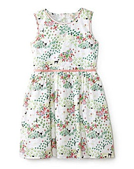Yumi Girl French Poodle Print Dress