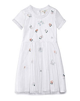 Yumi Girl All Over Sprig Embellished Dre