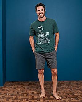 Capsule Christmas Print Shorts PJ Set