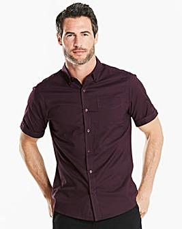 Capsule S/S Plum Oxford Shirt Regular
