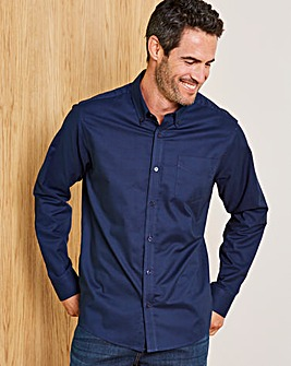 Capsule Navy L/S Oxford Shirt R