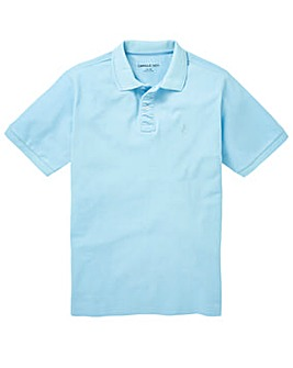 Capsule Ice Blue Embroidered Polo Long