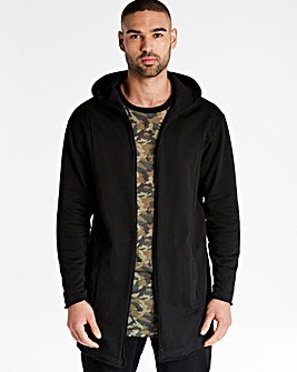 Jacamo Longline Hooded Cardigan Sweat