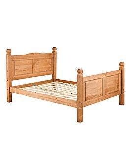 Corona Solid Pine Double Bedstead