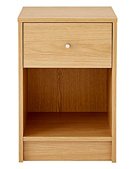 Oslo 1 Drawer Bedside Table