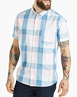 Jacamo Jericho Check S/S Shirt Long