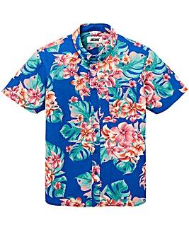 Jacamo S/S Blue Print Shirt Long