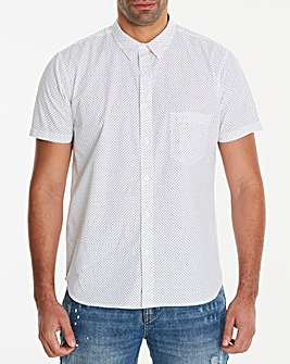Jacamo S/S Polka Dot Print Shirt Regular