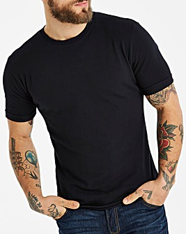 Jacamo Pique Muscle Fit T-Shirt Long
