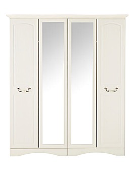 Darley 4 Door Wardrobe with Mirror