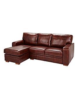 Salisbury Leather Lefthand Corner Chaise