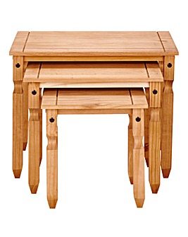 Corona Solid Pine Nest of Tables