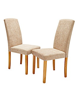 Ava Chenille Pair of Dining Chairs
