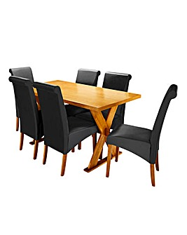 Norfolk Dining Table and 6 Siena Chairs