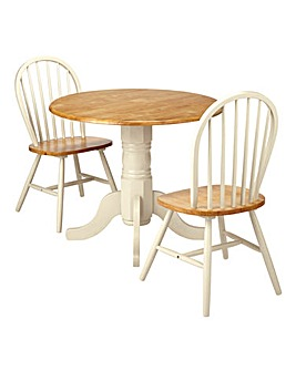 Hove Dropleaf Table and 2 Chairs