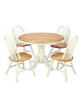 Hove Circular Dining Table and 4 Chairs