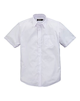 W&B London White S/S Formal Shirt L