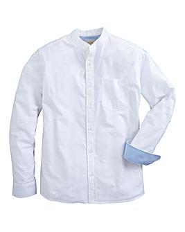 Capsule White L/S Grandad Oxford Shirt L