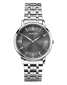 Sekonda Gents Silver Tone Bracelet Watch