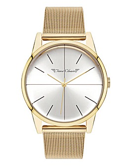 Time Chain Gold Tone Mesh Watch