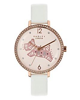 Radley Ladies Folk Dog Watch - White