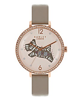 Radley Ladies Folk Dog Watch - Taupe