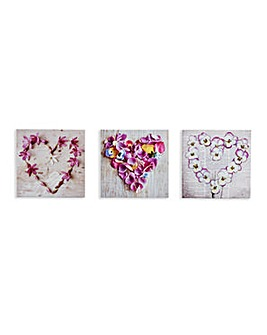 Arthouse Pansy Floral Hearts Canvases