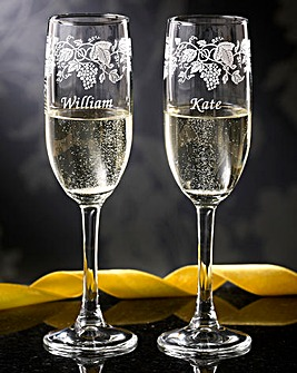 Personalised Celebration Flutes Boxed