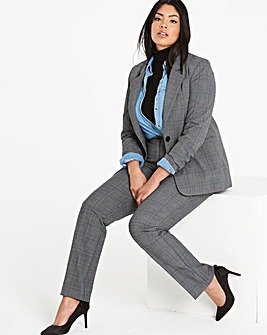 Single Breasted Check Blazer