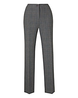 Petite Check Tapered Leg Trousers