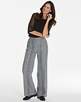 Magisculpt Check Wide Leg Trouser