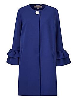 Fluted Sleeve Longline Jacket