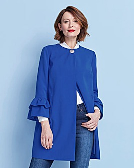 Fluted Sleeve Longline Jacket