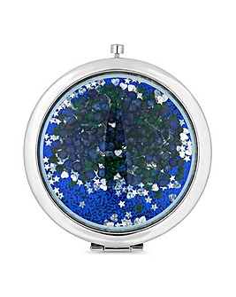 Mood Blue Crystal Shaker Compact Mirror