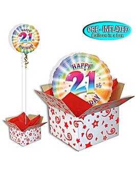 Happy 21st Birthday Balloon In A Box