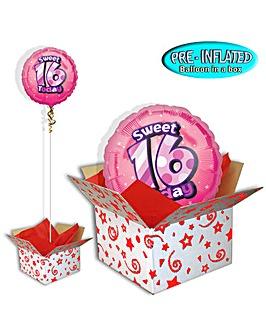 Sweet 16th Birthday Balloon In A Box