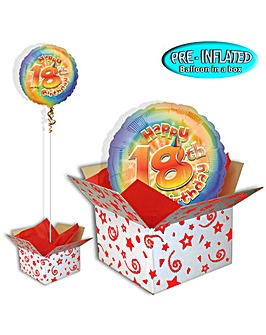 Happy 18th Birthday Balloon In A Box