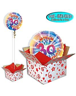 Happy 30th Birthday Balloon In A Box