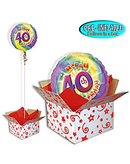 Happy 40th Birthday Balloon In A Box