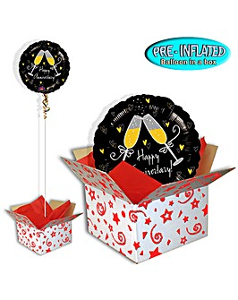 Happy Anniversary Balloon In A Box
