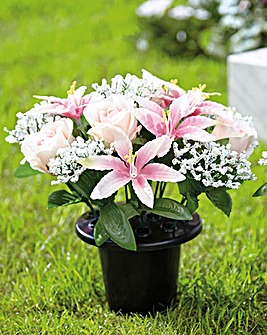 Rose and Lily Grave Pots
