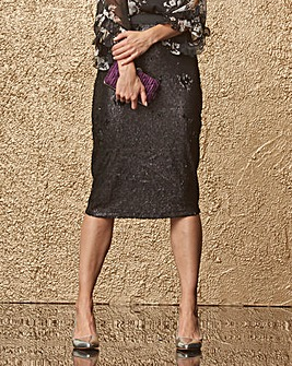 Sequinned Pencil Skirt